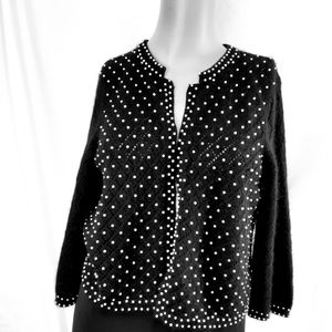 Josephine Chaus embellished sweater black med